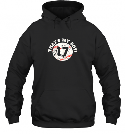 waze that39 s my boy 17 baseball player mom or dad gift hoodie 23 front black
