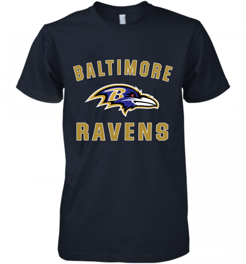 bns3 mens baltimore ravens nfl pro line by fanatics branded gray victory arch t shirt premium guys tee 5 front midnight navy