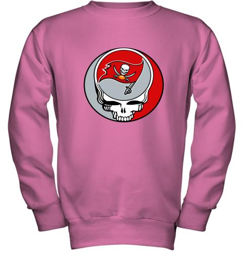 dwmc nfl team tampa bay buccaneers x grateful dead youth sweatshirt 47 front safety pink