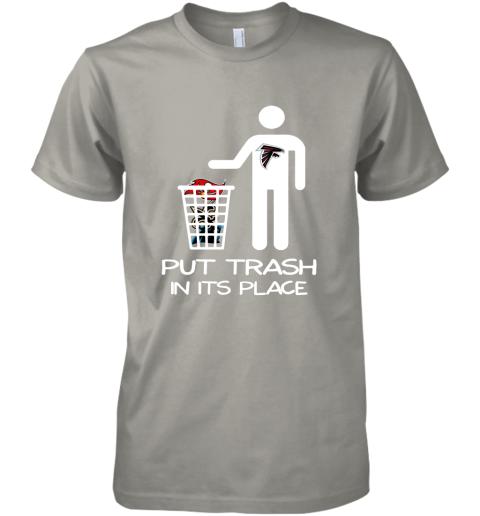 Attlanta Falcons Put Trash In Its Place Funny NFL Premium Men's T-Shirt