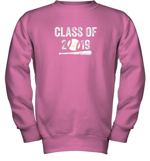 3ovu class of 2019 vintage shirt graduation baseball gift senior youth sweatshirt 47 front safety pink