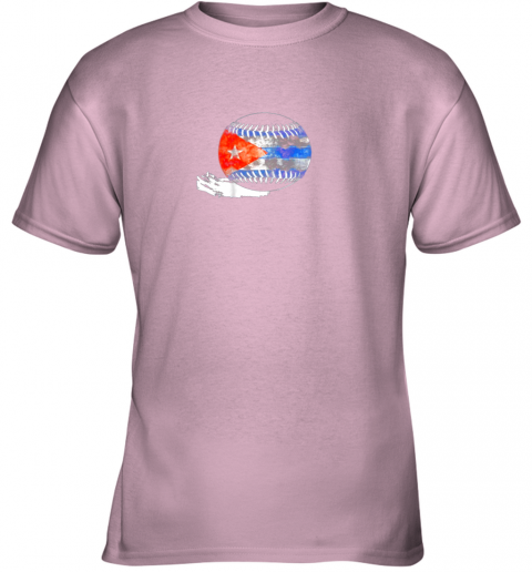 6nwl vintage baseball cuba flag shirt cuban pride youth t shirt 26 front light pink