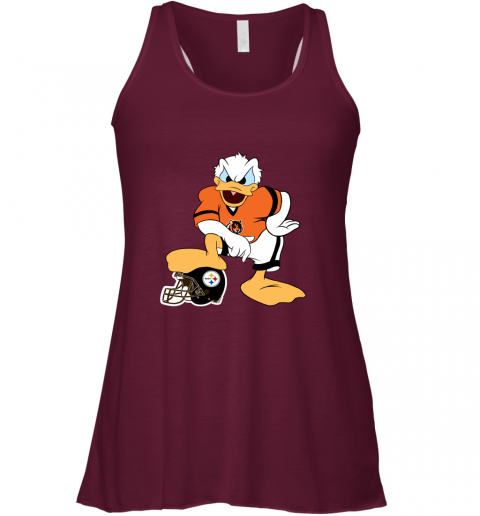 q71q you cannot win against the donald cincinnati bengals nfl flowy tank 32 front maroon