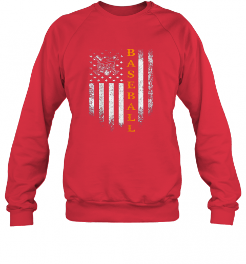yw2v vintage usa baseball distressed american flag patriotic gift sweatshirt 35 front red