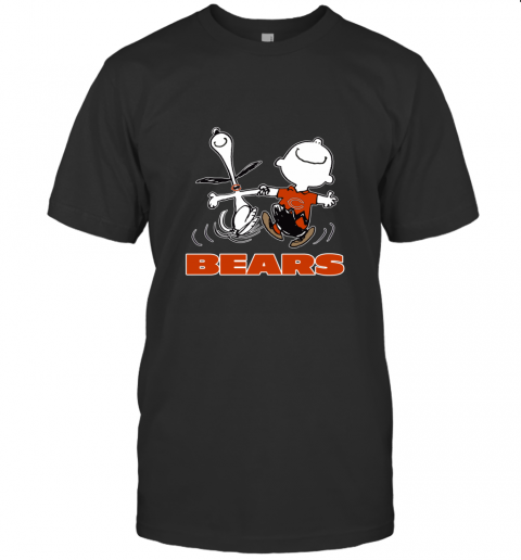 Snoopy And Charlie Brown Happy Chicago Bears NFL T-Shirt