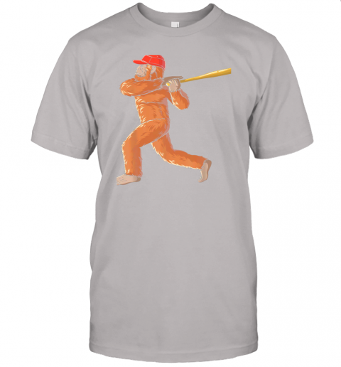 dtdx bigfoot baseball sasquatch playing baseball player jersey t shirt 60 front ash