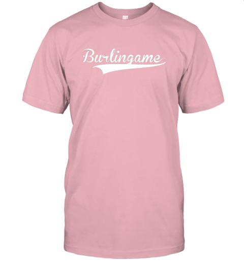 4j6a burlingame baseball softball styled jersey t shirt 60 front pink