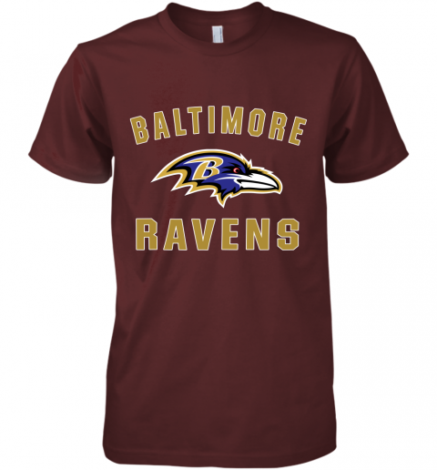 bns3 mens baltimore ravens nfl pro line by fanatics branded gray victory arch t shirt premium guys tee 5 front maroon