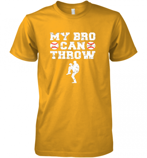 w8jn kids cute baseball brother sister funny shirt cool gift pitcher premium guys tee 5 front gold
