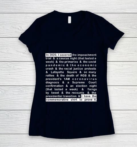 Jim Acosta Women's V-Neck T-Shirt 2