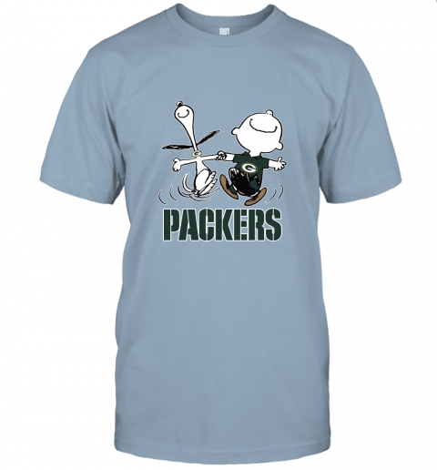 Snoopy And Charlie Brown Happy Green Bay Packers Fans Unisex Jersey Tee