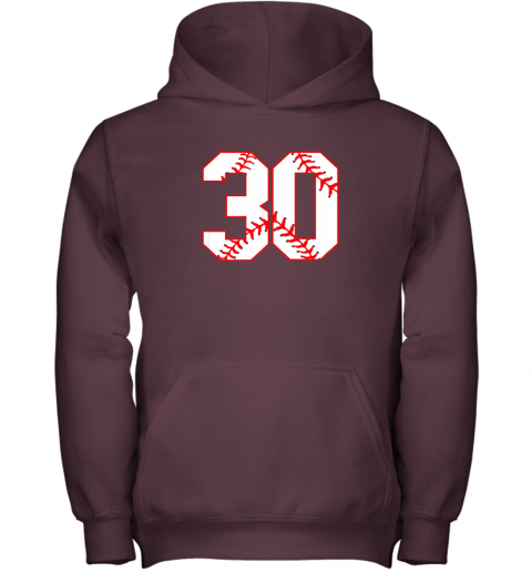 mn4l thirtieth birthday party 30th baseball shirt born 1989 youth hoodie 43 front maroon