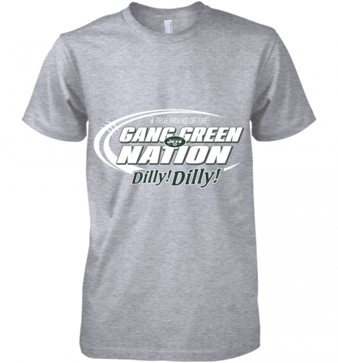 uiay a true friend of the gang green nation premium guys tee 5 front heather grey