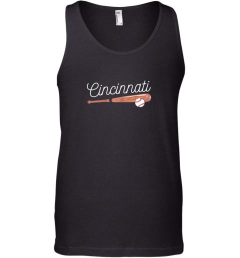 Cincinnati Baseball Tshirt Classic Ball and Bat Design Tank Top