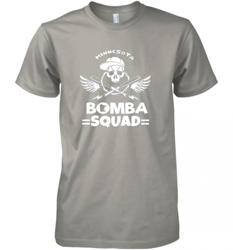 zmjd bomba squad twins shirt minnesota baseball men bomba squad premium guys tee 5 front light grey