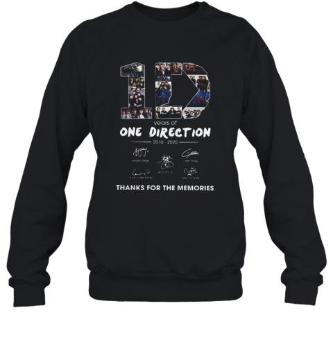10 Years Of One Direction 2010 2020 Signatures Sweatshirt