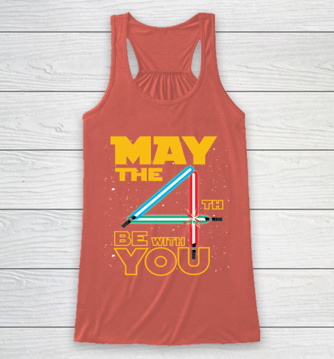 The 4th of May Be With You Galaxy Lightsaber Star Wars Racerback Tank 3
