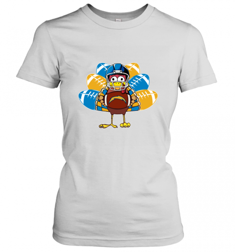 Los Angeles Chargers  Thanksgiving Turkey Football NFL Women's T-Shirt