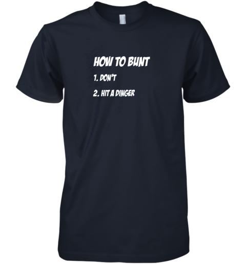 lnyt how to bunt 1 don39 t 2 hit a dinger baseball softball premium guys tee 5 front midnight navy