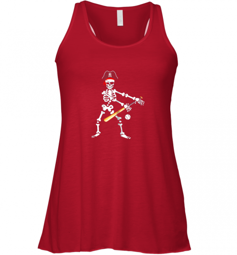 kzsy skeleton pirate floss dance with baseball shirt halloween flowy tank 32 front red