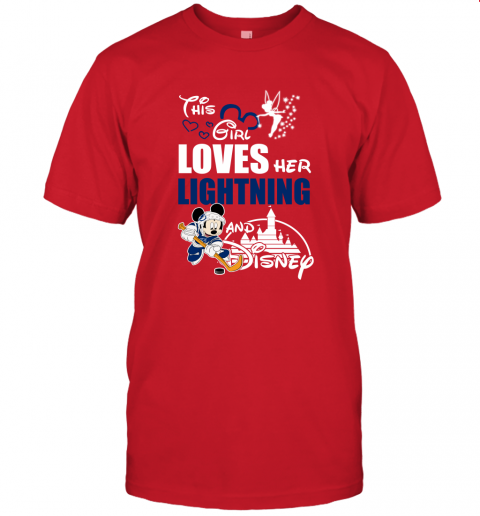 This Girl Love Her Tampa Bay Lightning And Mickey Disney Unisex Jersey Tee