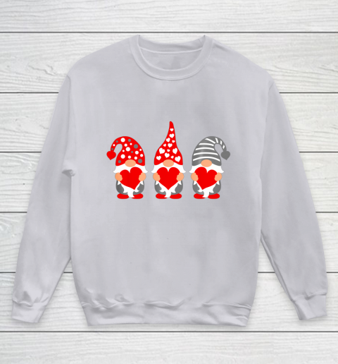 Gnomes Hearts Valentine Day Shirts For Couple Youth Sweatshirt 3