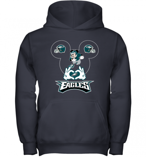wom3 i love the eagles mickey mouse philadelphia eagles youth hoodie 43 front navy