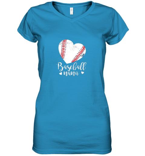 pekn funny baseball nana shirt gift for men women women v neck t shirt 39 front sapphire