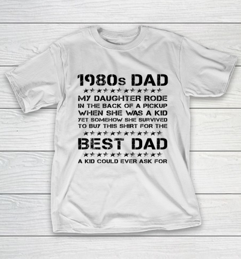 Funny Girl Dad 1980s Dad And Daughter Father's Day T-Shirt