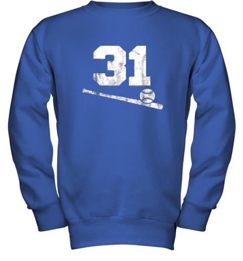 84sk vintage baseball jersey number 31 shirt player number youth sweatshirt 47 front royal
