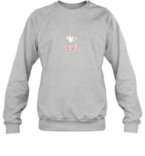 4vy5 cleveland baseball shirt cleveland ohio heart beat cle sweatshirt 35 front sport grey