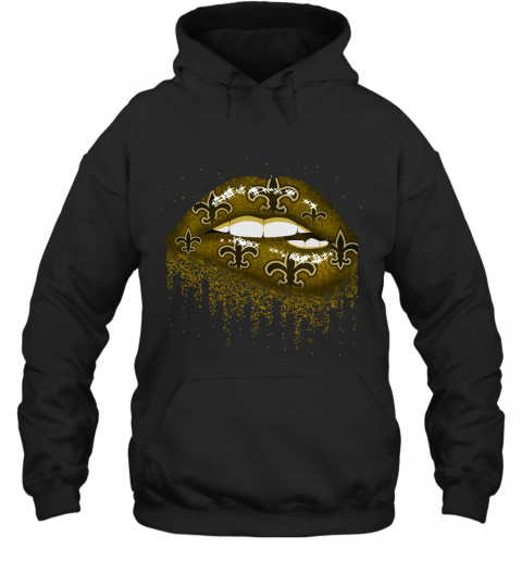 Biting Glossy Lips Sexy New Orleans Saints NFL Football Hoodie