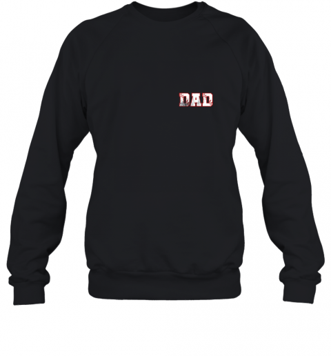 Mens Baseball Inspired Dad Fathers Day Distressed Sweatshirt