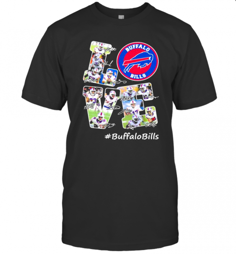 Love Buffalo Bills Signature Football Team T-Shirt