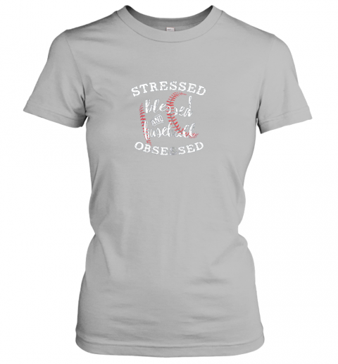 l9ft stressed blessed and baseball obsessed shirt funny ladies t shirt 20 front sport grey