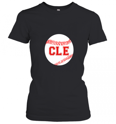 Cleveland Ohio Baseball Heart CLE Women's T-Shirt