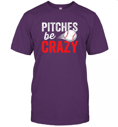 kkps pitches be crazy baseball shirt funny pun mom dad adult jersey t shirt 60 front team purple