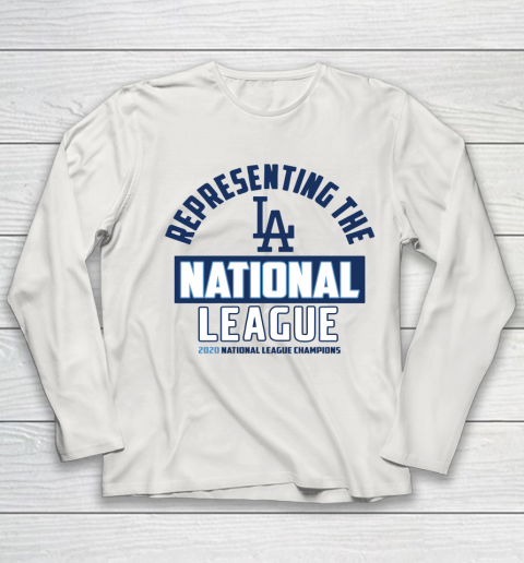 Representing the Los Angeles Dodgers National League 2020 Champions Youth Long Sleeve 8