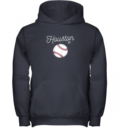 tsi1 houston baseball shirt astro number 19 and giant ball youth hoodie 43 front navy