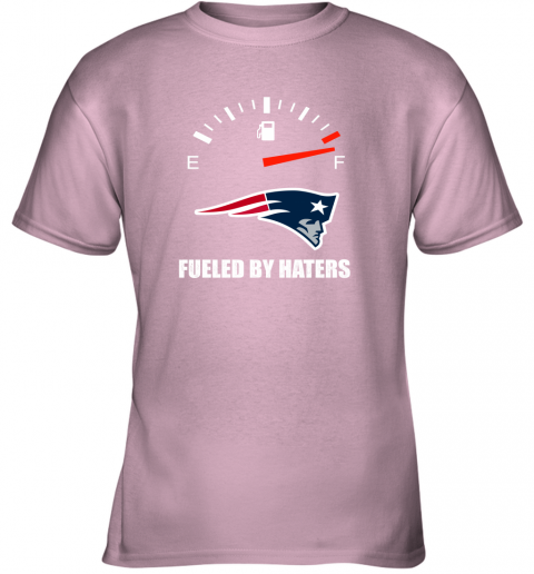 kulz fueled by haters maximum fuel new england patriots youth t shirt 26 front light pink