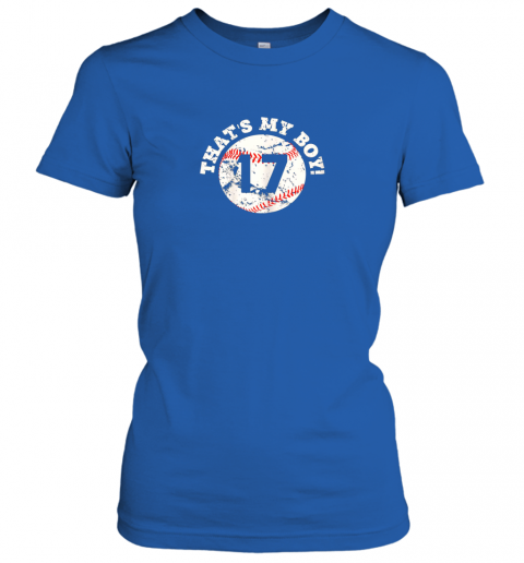ro85 that39 s my boy 17 baseball player mom or dad gift ladies t shirt 20 front royal