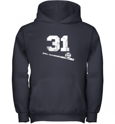 5nmw vintage baseball jersey number 31 shirt player number youth hoodie 43 front navy