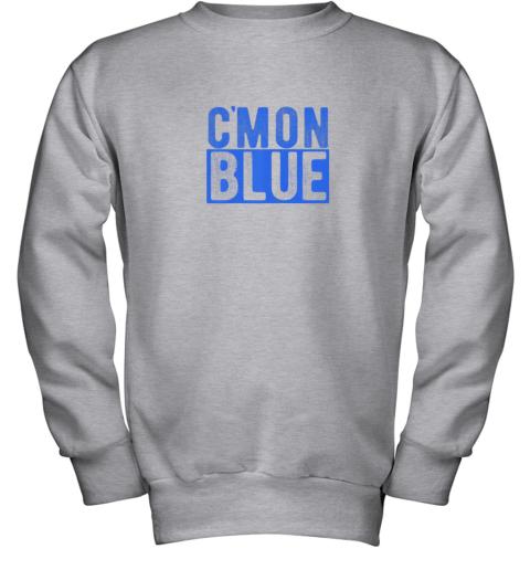 5774 cmon blue umpire baseball fan graphic lover gift youth sweatshirt 47 front sport grey