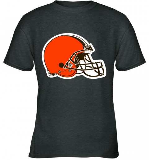 iozq cleveland browns nfl pro line by fanatics branded brown victory youth t shirt 26 front dark heather