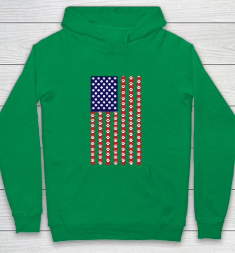 Handball Dog Lover American Flag Youth Hoodie 4