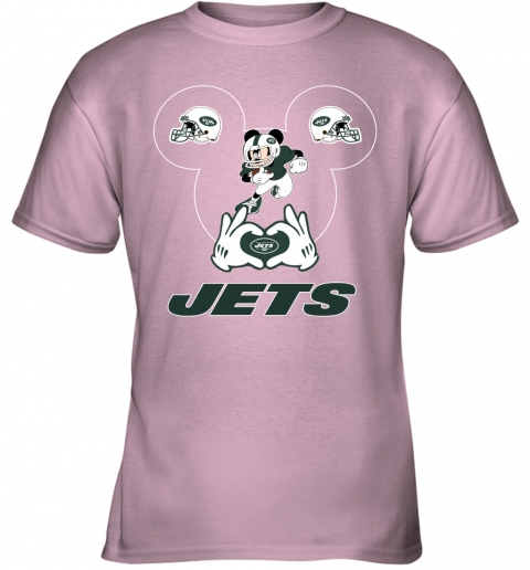 duq2 i love the jets mickey mouse new york jets youth t shirt 26 front light pink