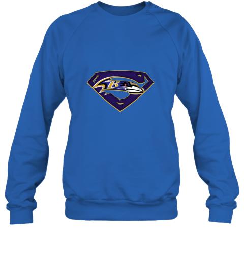 dt3p we are undefeatable the baltimore ravens x superman nfl sweatshirt 35 front royal