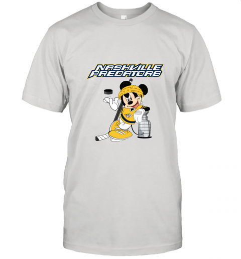 Mickey Nashville Predators With The Stanley Cup Hockey NHL Unisex Jersey Tee