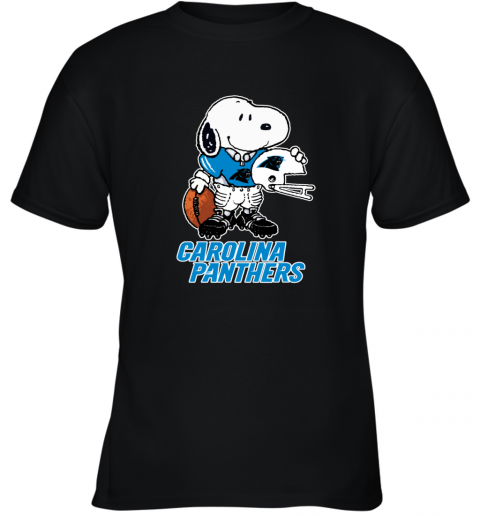 Snoopy A Strong And Proud Carolina Panthers NFL Youth T-Shirt