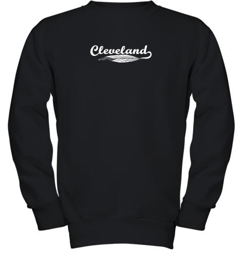 Cleveland Shirt Native American Feather Baseball Youth Sweatshirt